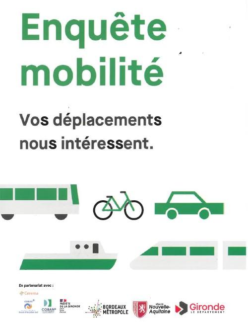 Enquête mobilité – Vos déplacements nous intéressent